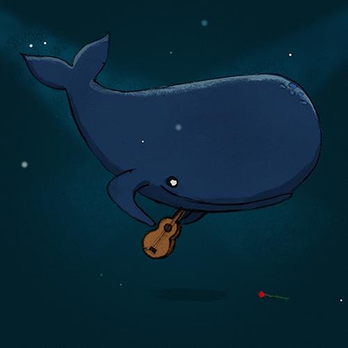 Whale & his guitar